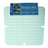 Решетка в раковину прозрачная прямоугольная 30*30 см, силикон
