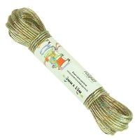 Шнур с разноцветной металлической жилой крученый 3мм х 15м
