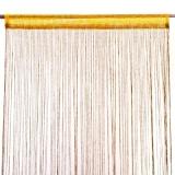 Занавеска нитяная 1x2м с блестками оранжевая