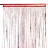 Занавеска нитяная 1x2м с блестками бордовая
