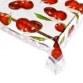 Скатерть виниловая прозрачная с ажурной каймой, 152x228см, Арт. 0136-1
