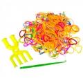 Набор для плетения браслетов, пластик, 300 резинок, 10 крючков, арт.2240