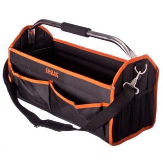 Купить оптом в Пензе Переноска для инструмента каркасная  полиэстер  49.5x22x31см  2 передних  2 боковых кармана