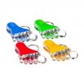 Брелок с подсветкой «Стопа», пластик, 6x4x2см, мерцание красным и синим, 4 цвета, JU-117