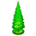 Сувенир диодная подсветка пластик 15см Елочка зеленый