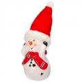 Сувенир LED 6,5х10,5см, керамика, в виде Снеговика, 99021
