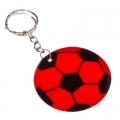 Брелок-подвеска светоотражающая Футбольный Мяч 9,5x4,5см ПВХ 3цвета
