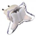 Светильник-ночник в розетку Мотылек с переключателем 02т пластик металл 82х6см