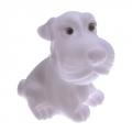 Светильник-ночник Пёсик белый, пластик, 1Led(многоцвет) 6,5х6,5х8,5см