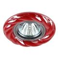 Светильник Эра DK 4 CH/R 12V/220V 50W керамика косичка хром/красный