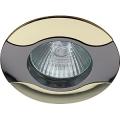 Светильник Эра KL18 GU/G 12V/220V 50W MR16 волна черный/металл/золото