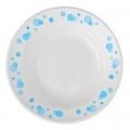 Тарелка глубокая Синий горох 20см, 250мл, фаянс, 055