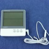 Термометр электронный 2- режима, с уличным датчиком, 10,8*10 см, пластик, HTC-3