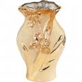Ваза 18.5х11х31 ф.волна C-0623-A золото/цветы-1