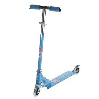Самокат стальной OT-507 два колеса PVC d=100мм до 40кг Микс