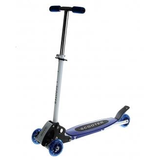 Самокат стальной Monster OT-016 три колеса PVC d=90мм синий до 50кг