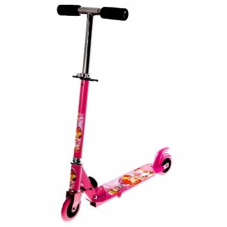 Самокат стальной OT-015 два колеса PVC d=100мм розовый до 40кг