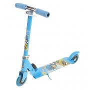 Самокат стальной OT-015 два колеса PVC d=100мм синий до 40кг