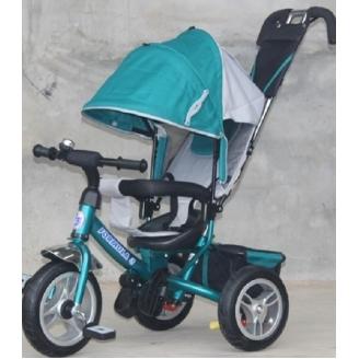Велосипед 3колеса Formula накл.спинка/надув.колеса Аква FA3G