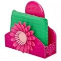 """Набор для мытья посуды (держатель для губки, губка) подвесной, на присоске """"Цветок"""", 4 цвета"""