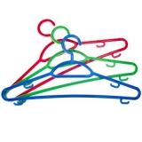 Набор вешалок тонких 3 шт, пластик, р.48-50, цветная, Р2904С3