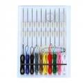Набор цветных ниток с иглами