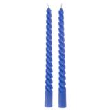 Набор витых свечей 2шт, парафин, 20см, 4 цвета
