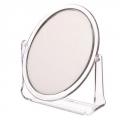 Зеркало настольное овальное 15х18см пластик прозрачный