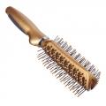 Расческа массажная двусторонняя, пластик, 23см, золото металлик, 623-8658
