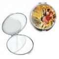 Зеркальце карманное металл, 4 дизайна, 832L
