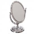 Зеркало настольное овальное, 20х12,5см, пластик, стекло, 4 цвета, 0818
