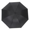 Зонт механический, металл, полиэстер, d100см, дл.спиц-54см, 24см, черный, 316B